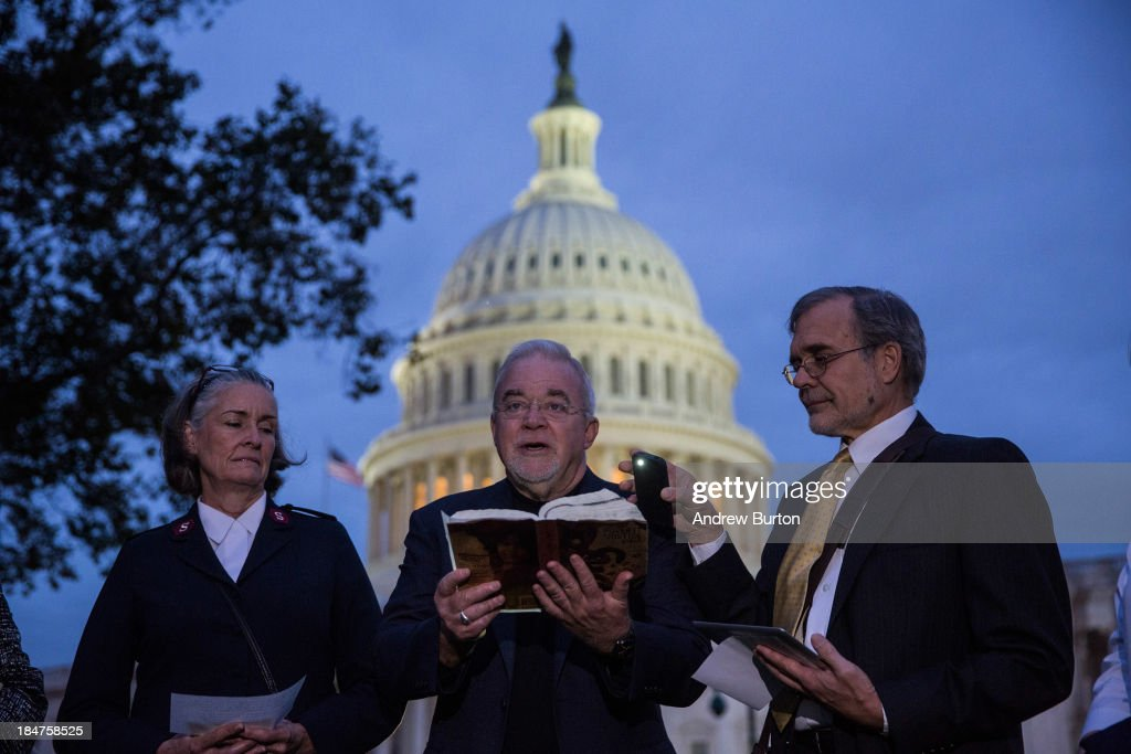 Religious Leaders Pray On Steps Of US Capitol As Debt Limit Deadline Looms : News Photo