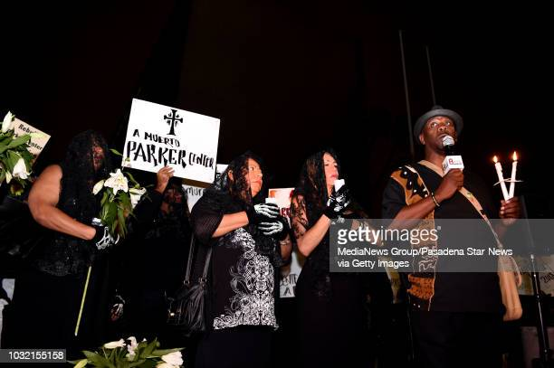 Reverend Kelvin Sauls speaks during a housing and homeless advocates funeral procession and Candlelight March to mourn the destruction of the former...