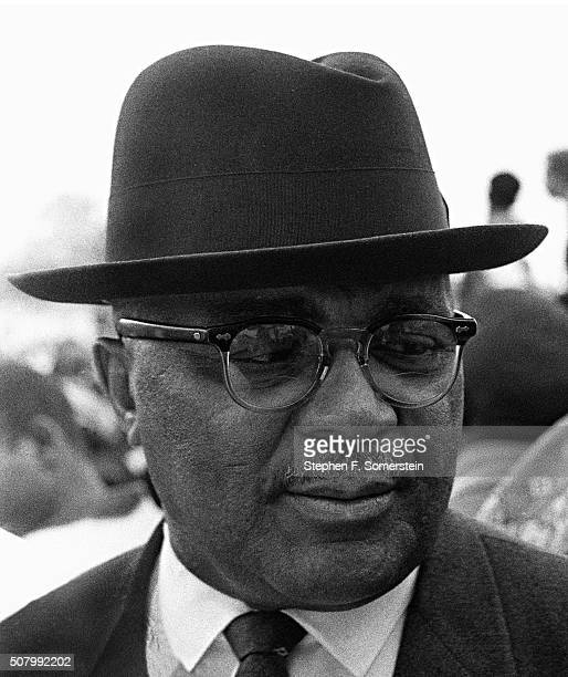 Reverend Martin Luther King Sr at the City of St Jude School campgrounds prior to the final march to the state house during the Selma to Montgomery...