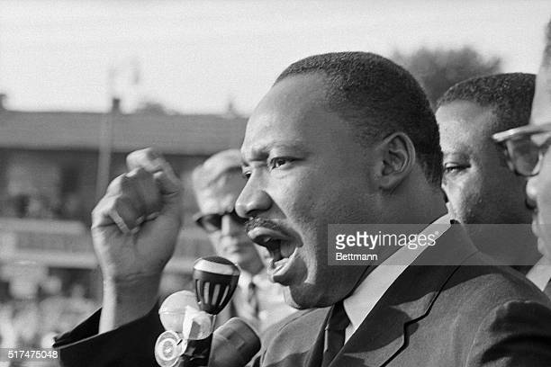 Reverend Martin Luther King urged African Americans to have the courage to be nonviolent as he addressed a crowd of 2000 persons at a recreation...