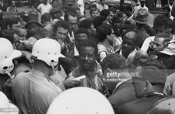 Reverend Ralph Abernathy director of the 'Poor People's March' is arrested in Washington DC USA 24 June 1968 Abernathy who inherited the cause...