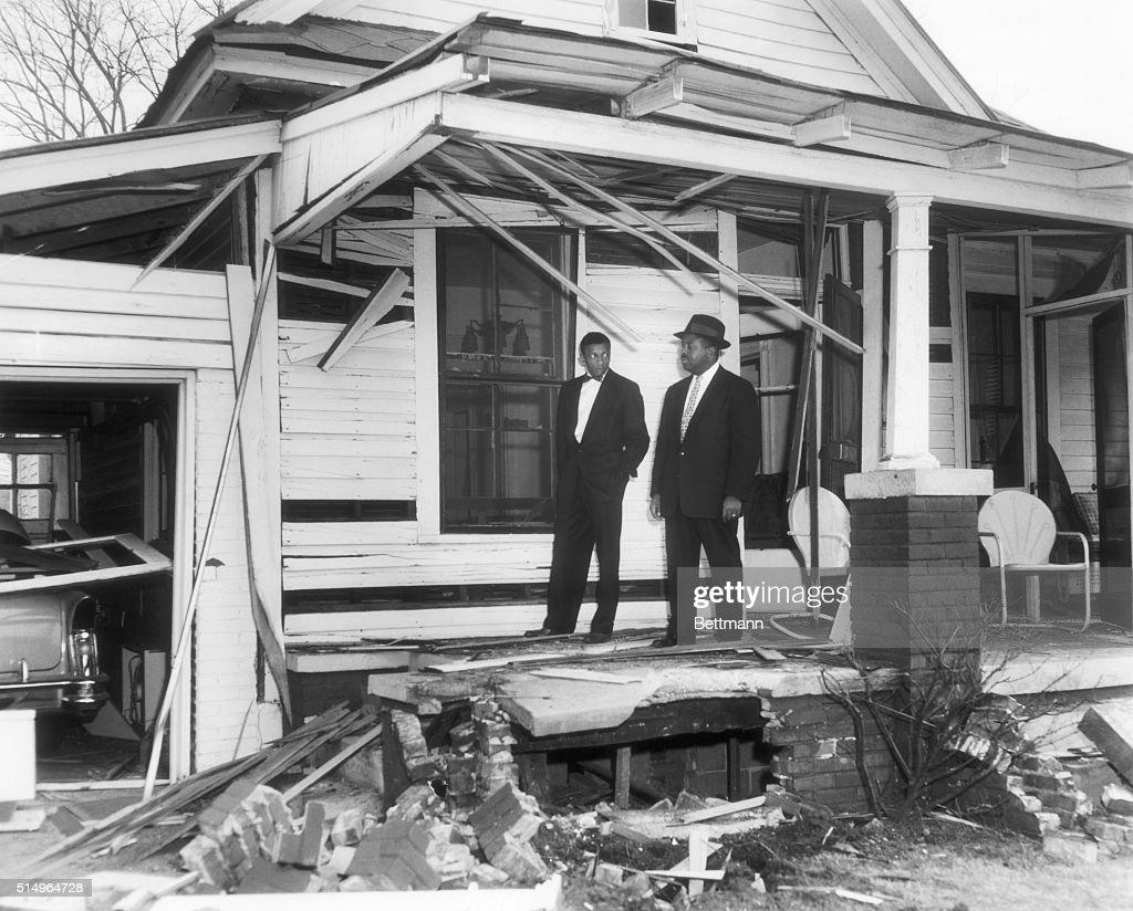 Pastor's Home Bombed During Montgomery Bus Boycott : News Photo