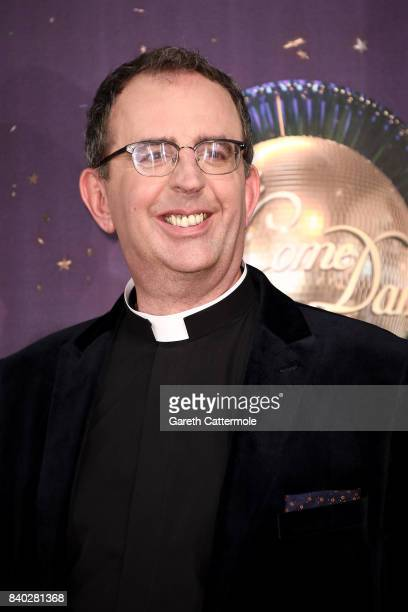 Reverend Richard Coles attends the 'Strictly Come Dancing 2017' red carpet launch at The Piazza on August 28, 2017 in London, England.