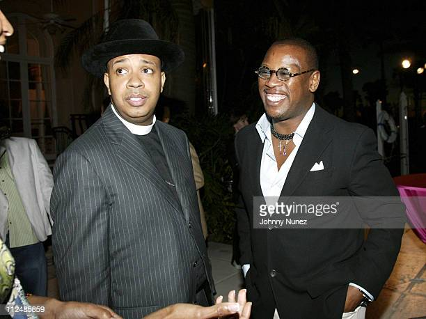 Reverend Run and Andre Harrell during Art for Life Gala Honoring Sean P Diddy Combs Hosted by Russell Simmons and Kimora Lee Simmons at MaraLago in...