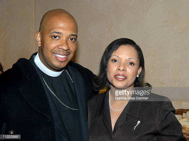Reverend Run and Justine Simmons during Phoenix House Honors Russell Simmons at The W Hotel in New York City New York United States