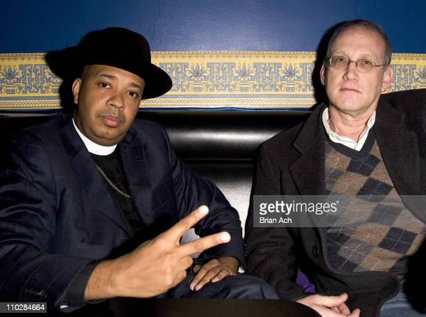 Reverend Run and manager Bill during Old Skool/New Skool Party Hosted by Rev Run of Run DMC January 15 2006 at China Club in New York City New York...