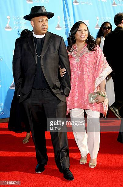 Reverend Run and wife Justine Simmons during 38th Annual NAACP Image Awards Arrivals at Shrine Auditorium in Los Angeles California United States