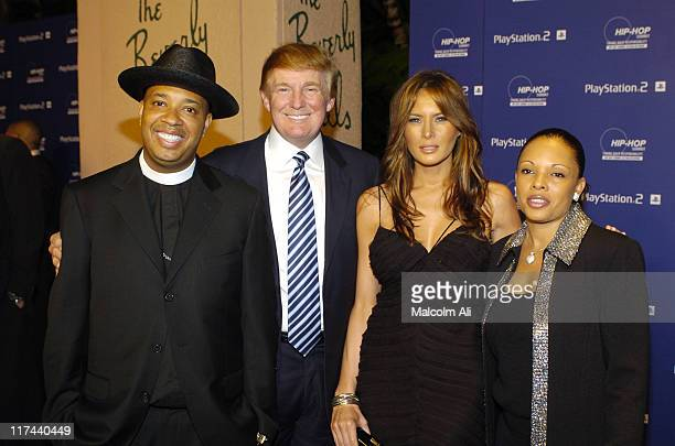 Reverend Run Donald Trump and Melania Knauss and guest