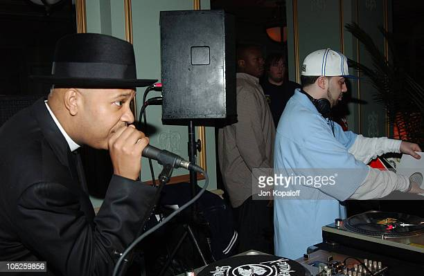 Reverend Run from Run DMC and DJ Green Lantern during 2nd Annual PlayStation 2 Game Over Party at Icon Hotel in Houston Texas United States