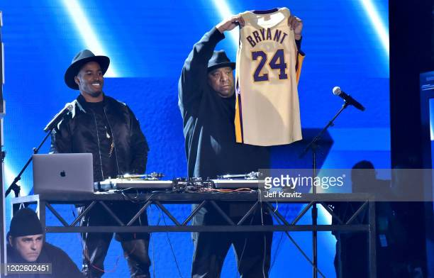 Reverend Run From Run DMC paying tribute to the late Kobe Bryant onstage during the 62nd Annual GRAMMY Awards at Staples Center on January 26 2020 in...