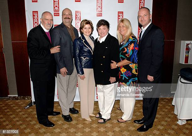 Reverend Troy Perry Phillip De Blieck Gloria Allred Robin Tyler Diane Olson and Rodney Scott attend the Los Angeles LGBT Pride Honorees Brunch on...