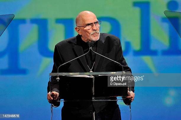 Reverend Troy Perry speaks during PFLAG National's 2012 Straight For Equality Awards Gala at Marriott Marquis Times Square on April 2 2012 in New...