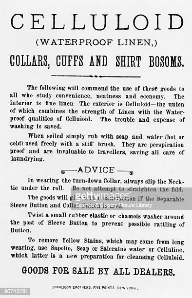 Reverse of an American illustrated advertisement card showing a smartly dressed fisherman wearing the latest 'collars cuffs and shirt bosoms' whilst...