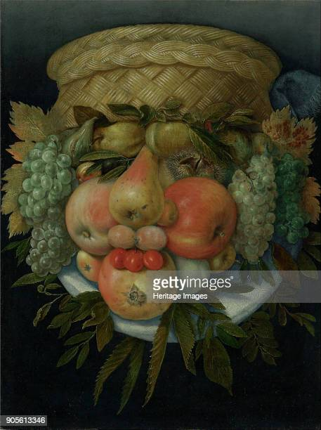 Reversible Anthropomorphic Portrait of a Man Composed of Fruit Private Collection