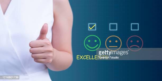 review, rating, satisfaction concepts - satisfaction photos et images de collection