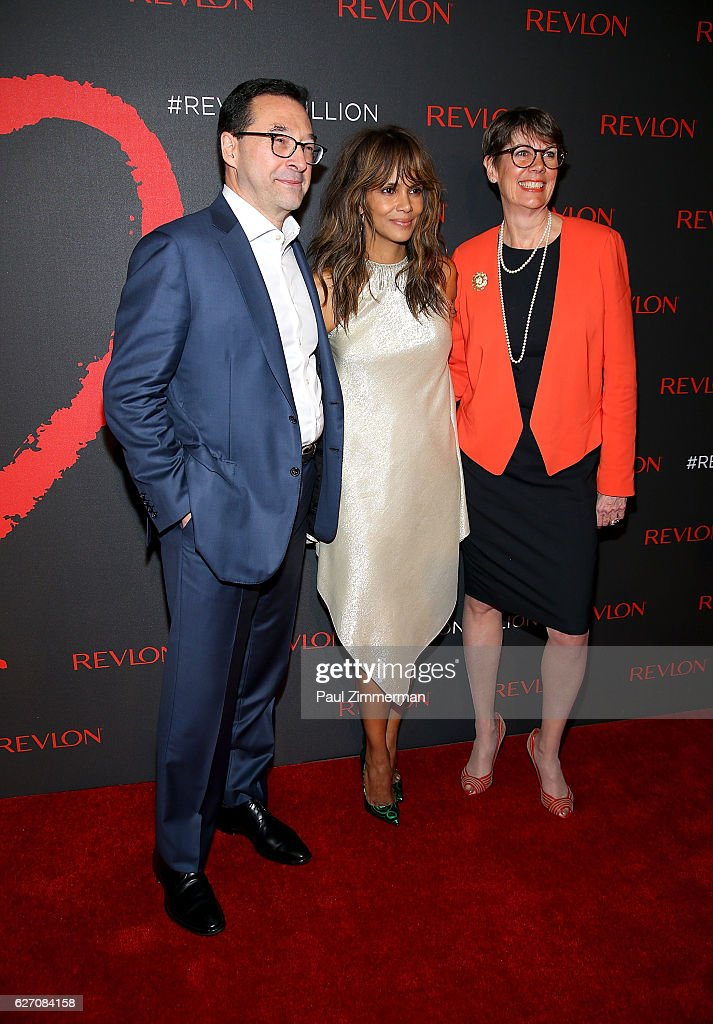 Revlon CEO Fabian Garcia, actress Halle Berry and Doctor Jill O'Donnell-Tormey attend Revlon's 2nd Annual Love Is On Million Dollar Challenge Finale Party at The Glasshouses on December 1, 2016 in New York City.