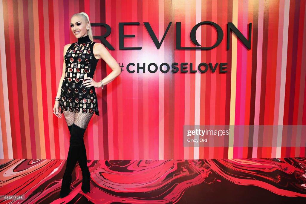 Revlon Global Brand Ambassador Gwen Stefani Hosts the Choose Love Valentine's Day Event in NYC