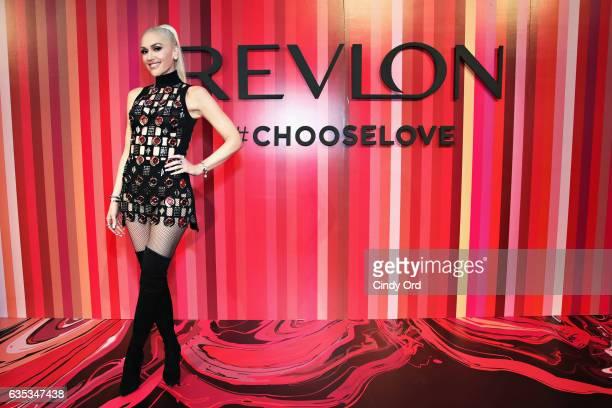 Revlon Global Brand Ambassador Gwen Stefani hosts the Choose Love Valentine's Day Event at Tribeca Rooftop on February 14 2017 in New York City