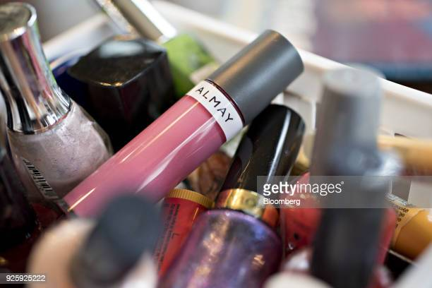 Revlon Inc Almay brand lip color is arranged for a photograph in Tiskilwa Illinois US on Wednesday Feb 28 2018 Revlon Inc is scheduled to release...