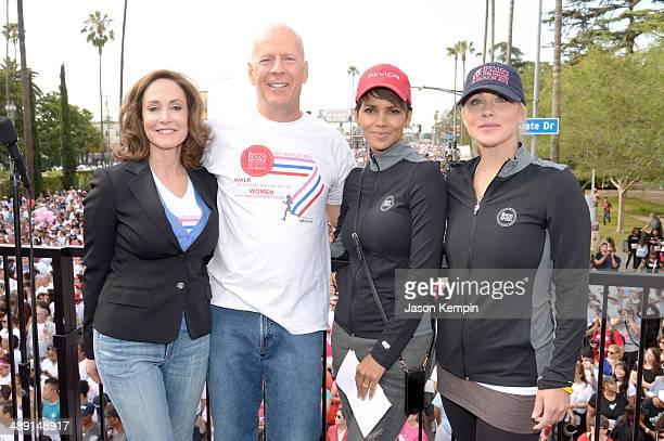 Revlon Run/Walk CoFounder Lilly Tartikoff actors Bruce Willis Halle Berry and Christina Applegate attend the 21st Annual EIF Revlon Run Walk For...