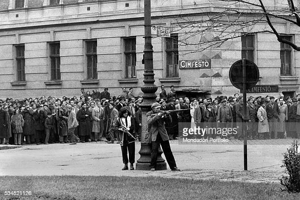 Revolt of the Hungarian people against the Soviet tyranny Budapest November 1956