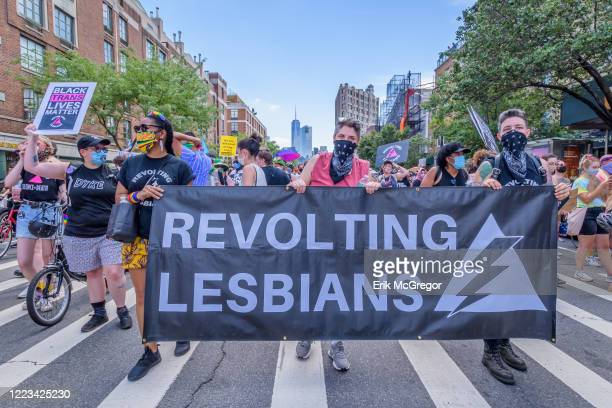 Revolting Lesbians contingent at the march. Reclaim Pride Coalition Took to the streets of Manhattan for the second annual Queer Liberation March the...