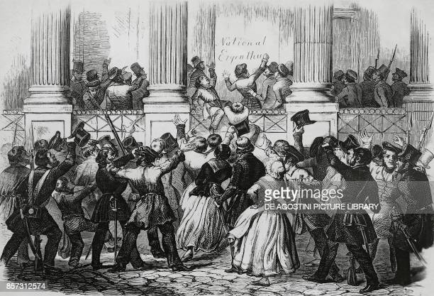 Revolution in Berlin in front of William I's palace March 1848 Germany 19th century