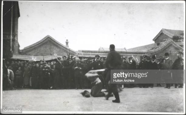 Revolution in China 1912 Prisoners for execution the fatal blow China
