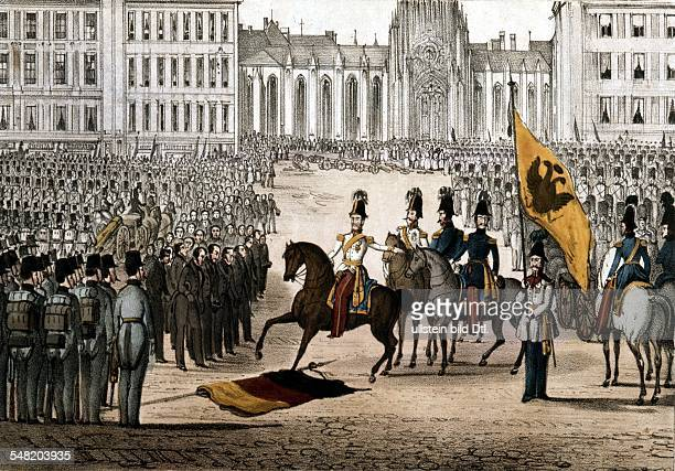 Revolution of 1848 in Vienna Viennese municipal council standing before Prince WindischGraetz who put down the uprising in Vienna the BlackRedGolden...