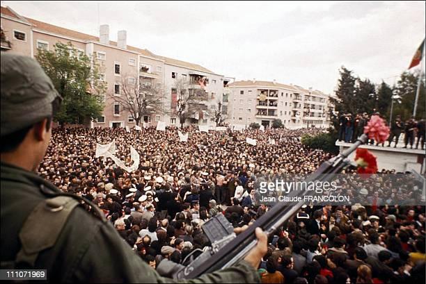 Revolution Of Poppyseed In Lisbon, Portugal On April 25, 1974