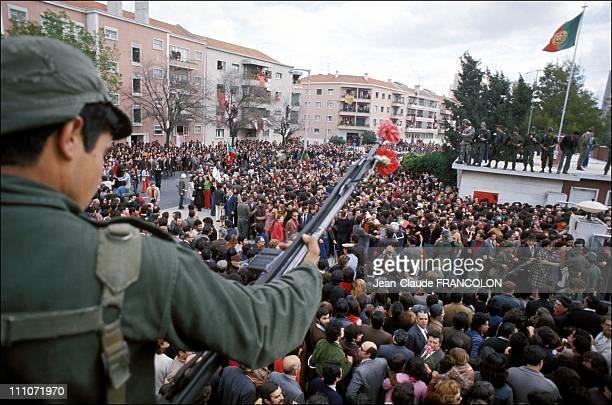 Revolution Of Poppyseed In Lisbon Portugal On April 25 1974