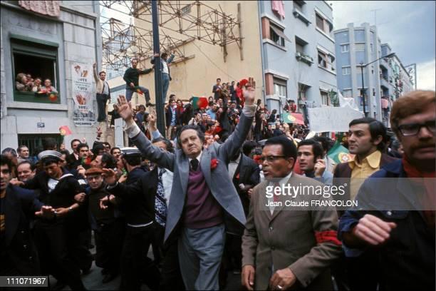 Revolution Of Poppyseed - Mario Soares In Lisbon, Portugal On April 25, 1974