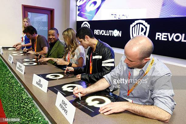 EVENTS Revolution Signing Pictured Billy Burke Giancarlo Esposito Tracy Spiridakos JD Pardo Eric Kripke