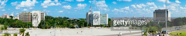 plaza de la revolución - plaza de la revolución havana stock photos and pictures