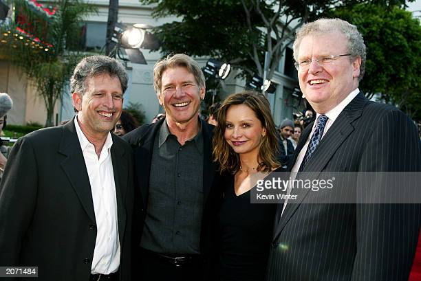 Revolution Studios' Joe Roth actor Harrison Ford actress Calista Flockhart and Chairman and Executive Officer Sony Corporation of America Howard...