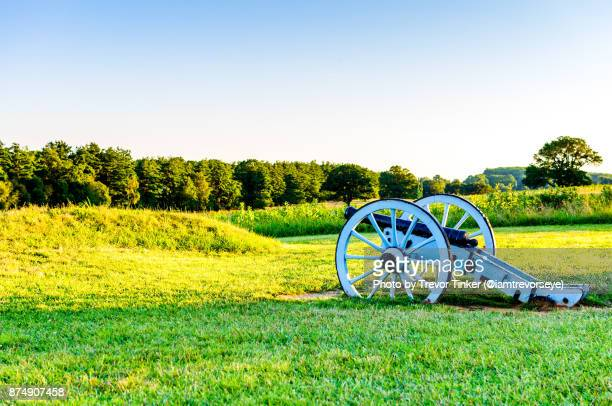 revolutionary cannon - revolutionary war stock photos and pictures