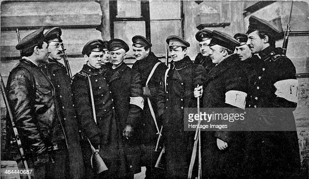 Revolutionary students after the February Revolution Russia 1917 The February Revolution led to the abdication of Tsar Nicholas II and the collapse...