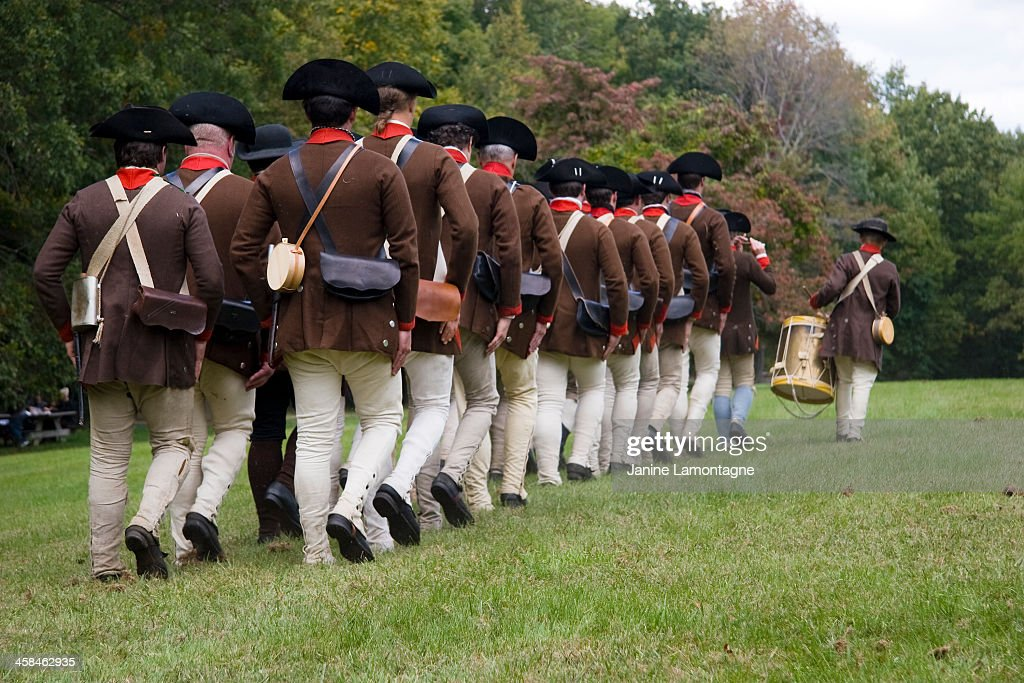Revolutionary War Reenactment : Stock Photo