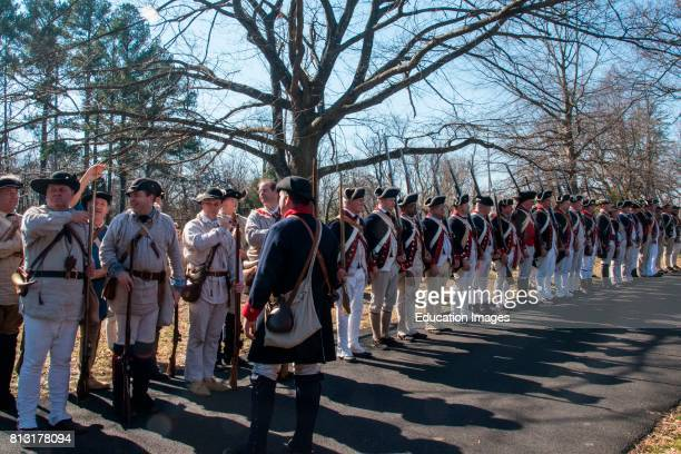 Revolutionary War reenactors in full uniform Alexandria Virginia