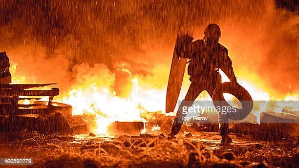 Revolution/Riots in Ukraine, Kiev, Grushevskogo st.