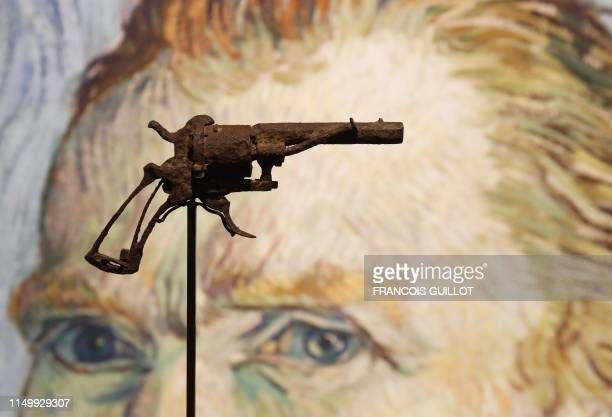 A revolver believed to be the gun Dutch 19th century painter Vincent Van Gogh would have used to kill himself on 27 July 1890 is on public display at...