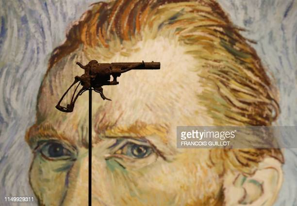 TOPSHOT A revolver believed to be the gun Dutch 19th century painter Vincent Van Gogh would have used to kill himself on 27 July 1890 is on public...