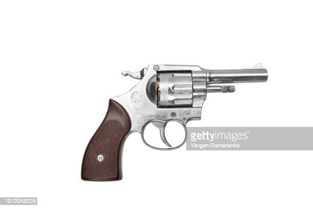 revolver isolated on white background - 銃 ストックフォトと画像