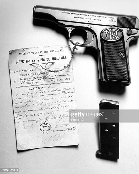 Revolver of Gorgulov the Russian who assassinated the President of the French Republic Paul Doumer May 1932