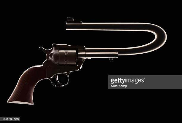revolver with a bent barrel - gun barrel stock pictures, royalty-free photos & images
