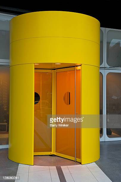 Revolving door entrance to lobby of the Standard Hotel in the Meatpacking District, New York, NY, U.S.A.