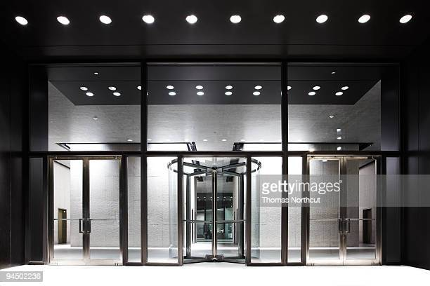 Revolving door of skyrise