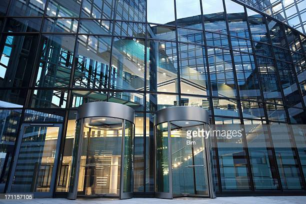Revolving Doors to Office Building