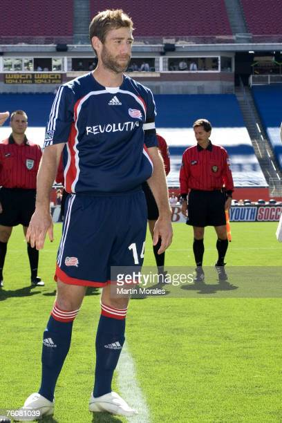 Revs captain Steve Ralston was honored before the game for setting the MLS career assists record at Gillette Stadium on July 22 2007 in Foxborough...