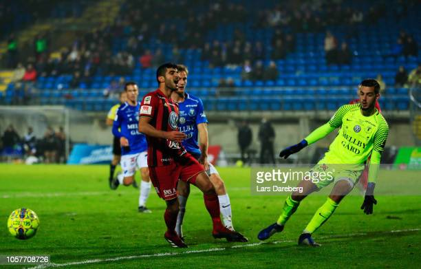 Rewan Amin of Ostersunds FK dejected during the Allsvenskan match between Trelleborgs FF and Ostersunds FF at Vangavallen on November 5 2018 in...